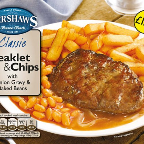 PM 1.79 Kershaws Steaklet and Chip - Frozen Food