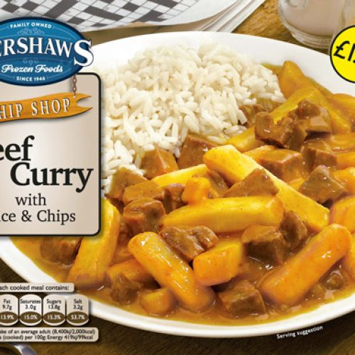 PM 1.79 Kershaws Beef Curry& Rice - Frozen Food