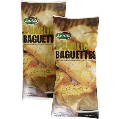 Lands Garlic Baguettes 2's_6x340g_7.99_Complimentary