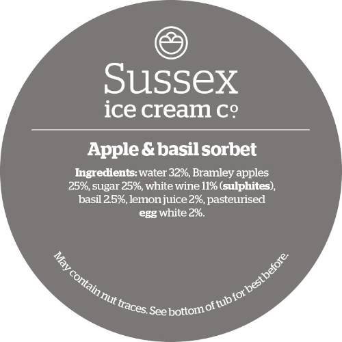 Sussex Apple Basil Sorbet