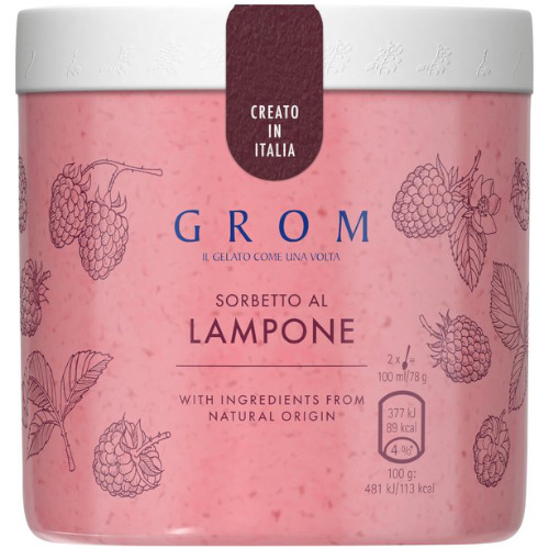 GROM Raspberry Lampone Sorbet_8x460ml_34_Take Home Ice Cream