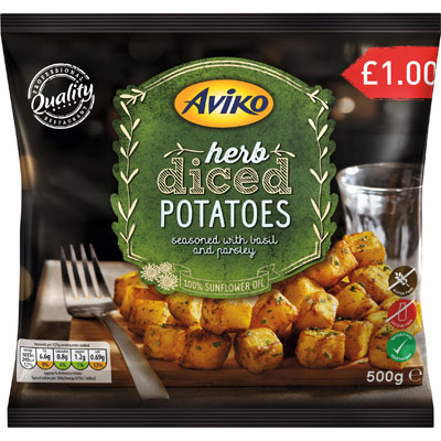 PM £1.00 Aviko Herb Diced Potato