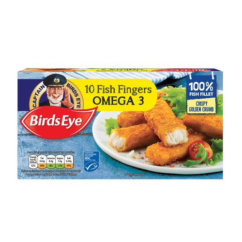 Birds Eye 10 Omega Cod Fish Fingers