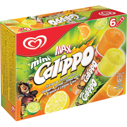 Calippo Mini Orange & Lime 6 Multipack_1x6_12.15_Take Home Ice Cream