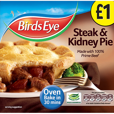 PM £1.00 Birds Eye Steak & Kidney Pie