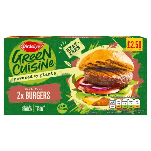 PM £2.50 Green Cuisine Vegan Burgers