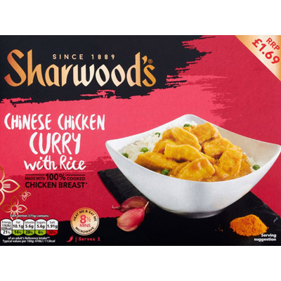 PM £1.69 Sharwood's Chicken Curry_6x375g_7.99_Ready Meals