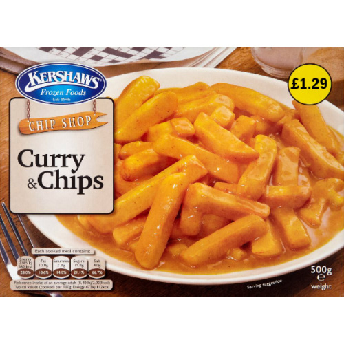 PM £1.29 Kershaws Curry & Chips_6x500g_8.49_Ready Meals