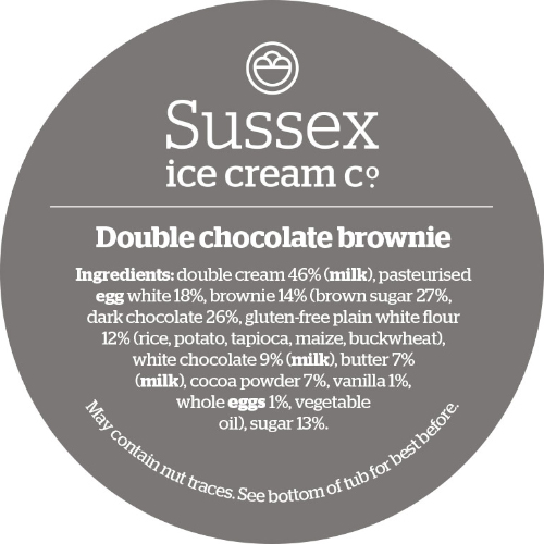 Sussex Double Chocolate Brownie