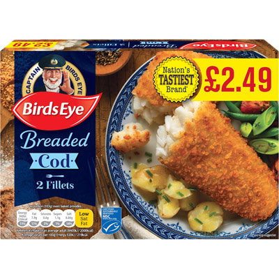 PM £2.49 Birds Eye 2 Cod In Crumb