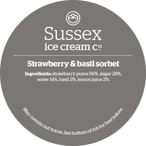 Sussex Strawberry & Basil Sorbet