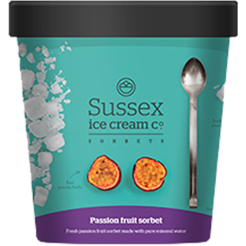 Sussex Passion Fruit Sorbet_6x500ml_21.50_Take Home Ice Cream