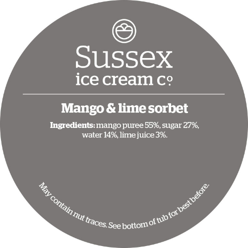 Sussex Mango & Lime Sorbet