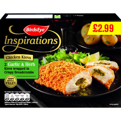 PM £2.99 Birds Eye Inspirations Chicken Kievs