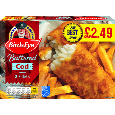 PM £2.49 Birds Eye 2 Cod in Crispy Batter