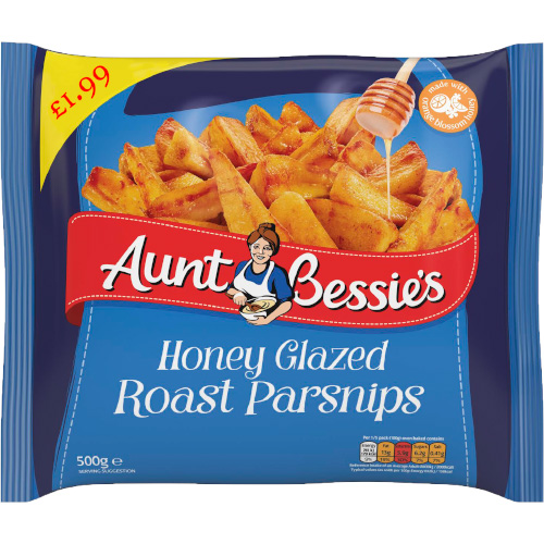 PM £1.99 Aunt Bessie's Parsnips CASE_12x500g_19.5_Vegetables