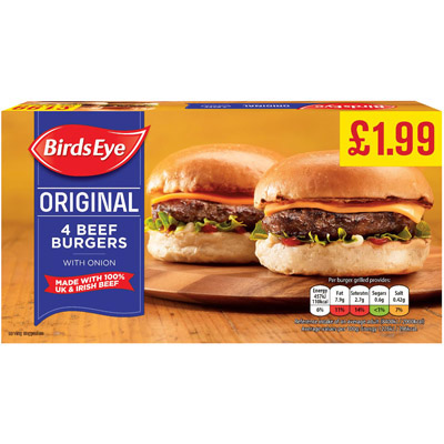 PM £1.99 Birds Eye Beef Burger