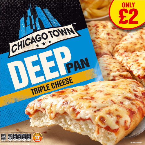 PM £2.00 Chicago Town The Deep Pan Cheese_6x435g_9.90_Pizza