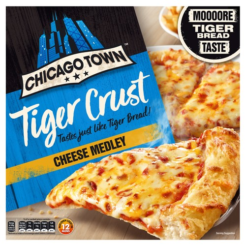 Chicago Town Tiger Bread Cheese Pizza
