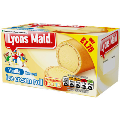 PM £1.75 Lyons Maid Vanilla Roll