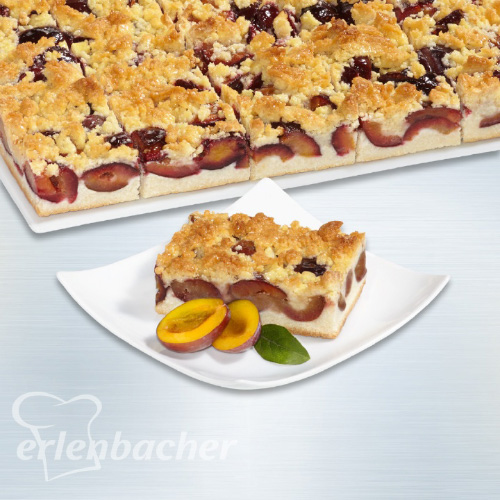 Erlanbacher Plum Slice With Butter Crumble