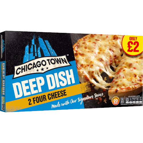 PM £2.00 Chicago Town Cheese Twin 13cm