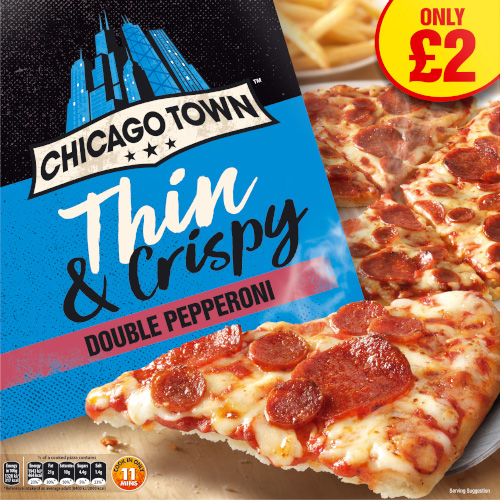 PM £2.00 Chicago Town Thin One Double Pepperoni