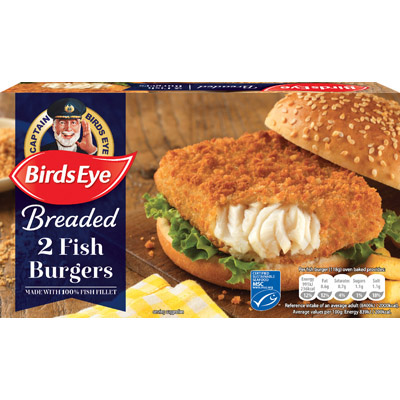 Birds Eye 2 BREADED Fish Fillet Burgers