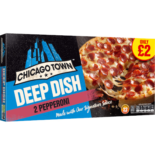 PM £2.00 Chicago Town Pepperoni Twin 13cm