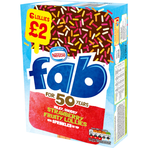 PM £2.00 Fab Strawberry 6 Pack
