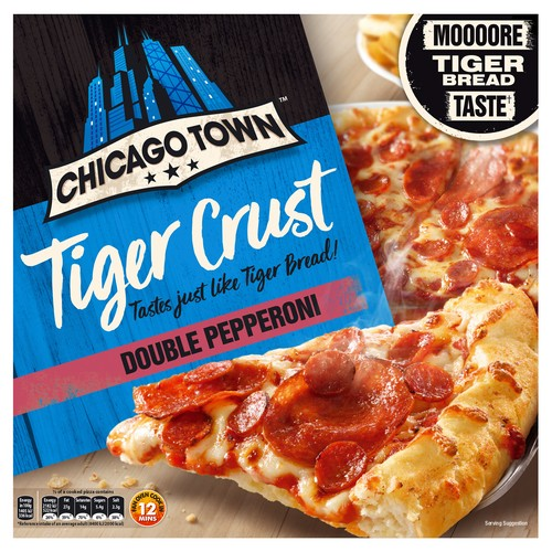 Chicago Town Tiger Bread Pepperoni Pizza