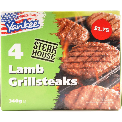 PM £2.19 Yankee 4 Lamb Grillsteaks