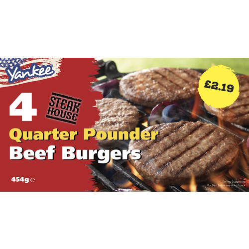PM £2.19 Yank 4 Beef Grills