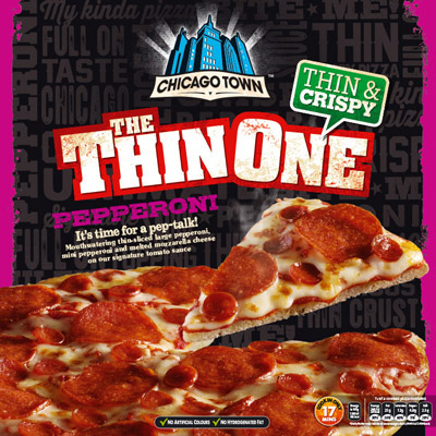 Chicago Town Thin One Double Pepperoni