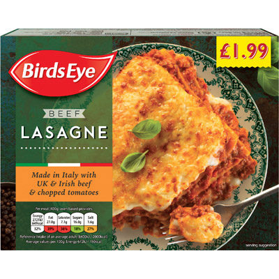 PM £1.99 Birds Eye Beef Lasagne