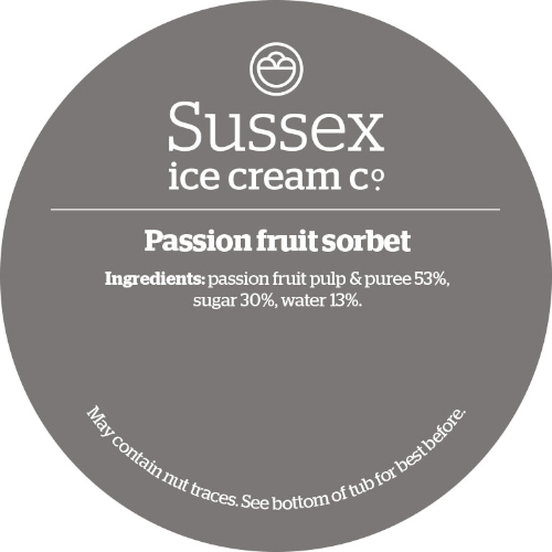 Sussex Passion Fruit Sorbet