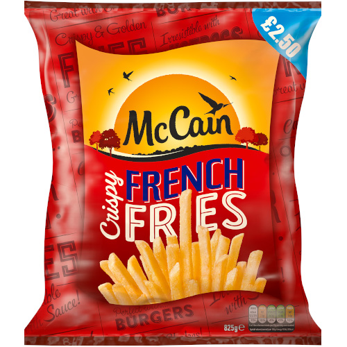 PM £2.50 McCain French Fries CASE_12x825g_24.49_Chips & Potato