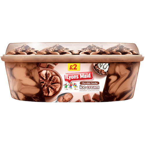 PM £2.00 Lyons Maid Chocolate Sundae Tub