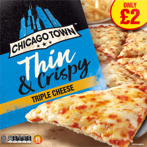 PM £2.00 Chicago Town Thin One Cheese_6x305g_9.89_Pizza