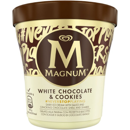 Magnum Pint White Cookie
