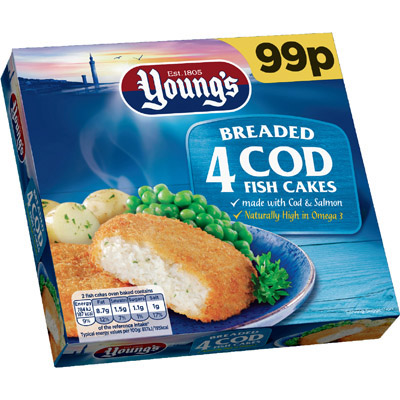 PM £99p Young's 4 Fish Cakes_12x200g_9.5_Fish
