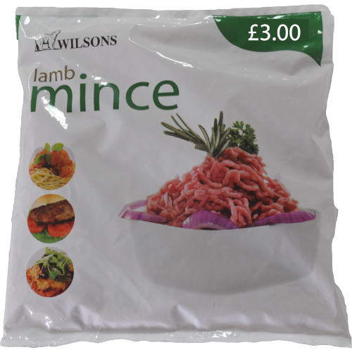 PM £3.00 Wilsons Mince Lamb_8x400g_19.25_Meat & Poultry
