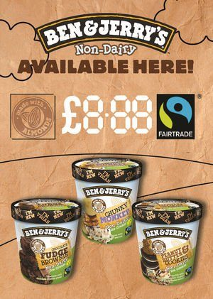 Magic 8 Poster Ben and Jerry Non Dairy Range